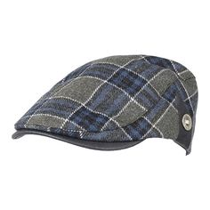 Men Male Wool Blend Newsboy Beret Cap Grid Blank Thick Flat Cowboy Cabbie  Hat Acessórios Masculinos f73df92a7e2