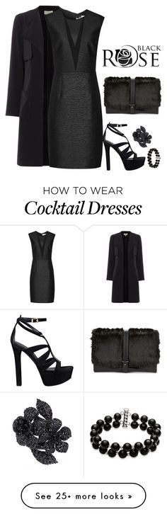 """""""Total Black"""" by detroitfashionista on Polyvore featuring Linea, Sam Edelman, GUESS, Valentino, Belk & Co., women's clothing, women's fashion, women, female and woman"""