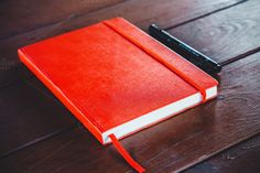 Notebook with fineliner by michalkulesza on Creative Market #notebook #fineliner #stationery