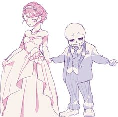 sans and frisk is... so cute :3