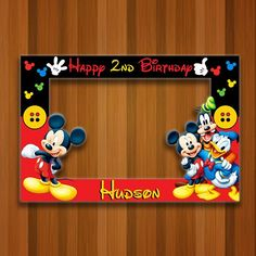 Photo Frame Hangers For Wall Photo Frame That Changes Photos Mickey Mouse Banner, Mickey Mouse Backdrop, Mickey Mouse Frame, Mickey Mouse Photo Booth, Bolo Mickey, Fiesta Mickey Mouse, Mickey Mouse Photos, Mickey Mouse Clubhouse Birthday, Mickey Party