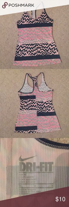 Brand New Nike Dri-fit Tank Brand new Nike dri-fit tank in a pink, blue, and gray pattern. Nike Tops Tank Tops