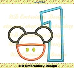 Mickey Pants     Set Embroidery Applique Design