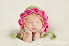 Newborn Flower bonnet by BeezyMama on Etsy, $34.00