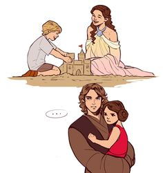 """""""I don't like sand. It's coarse and rough and irritating... and it gets everywhere."""" Apparently Leia agrees."""