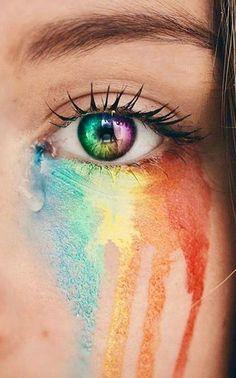 34 Ideas For Eye Photography Rainbow Aesthetic Eyes, Gay Aesthetic, Rainbow Aesthetic, Aesthetic Makeup, Aesthetic Colors, Aesthetic Drawing, Aesthetic Vintage, Rainbow Photography, Eye Photography