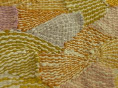 Tapestry by Silvia Heyden. A close up detail of her feather weave technique.