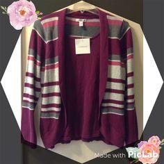 Woman's long sleeve top Woman's knitted long sleeve top cardigan style Croft & Barrow Sweaters Crew & Scoop Necks