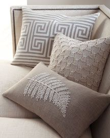 ○ neutral home nirvana ○  throw pillows