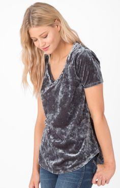 a61305065c11a Charcoal  2   Z SUPPLY Velvet T Shirt