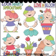 Love In Bloom 1 - Non-Exclusive Clip Art