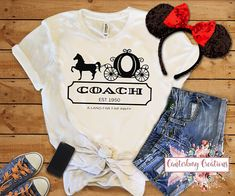 Princess/Cinderella Coach Shirt Disney vacation disney tank