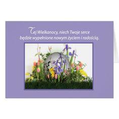 Polish Easter Egg in Flowers Card