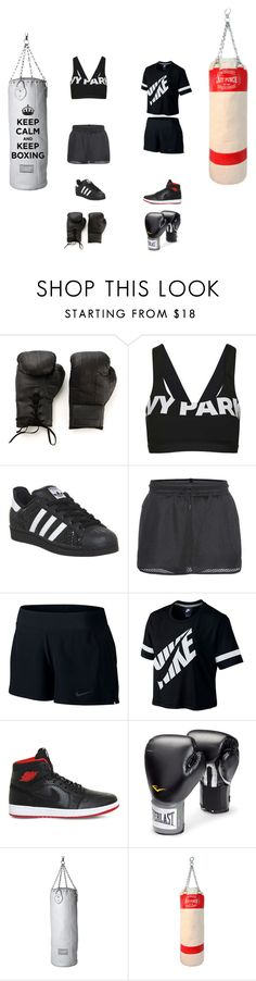 """""""boxing"""" by amelia139 on Polyvore featuring Elisabeth Weinstock, Topshop, adidas, NIKE, Everlast, Seletti and sporty"""