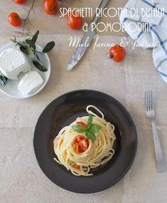 Leggero ma nutriente, #primopiatto pronto in pochi minuti e con pochi ingredienti per una pietanza davvero gustosa. Ricotta, Spaghetti, Ethnic Recipes, Food, Fantasy, Essen, Meals, Yemek, Noodle