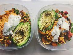 Making lunch for tomorrow. Taco salad over arugula and half an #. ___ #food #foodie #eatingnewyork #newforkcity #homecook #homecooking #f52grams #feedfeed #foodporn #nycfoodies #instagood #instafood #eats #nomnom #dinnertime #foodandwine #spoonfeed #forkyeah #infatuation #bonappetit #eeeeeats #vscocam #vsco