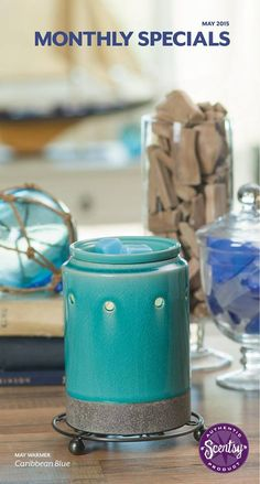 CARIBBEAN BLUE ~ Scentsy May 2015 Warmer of the Month Order Online ~ Ships Direct https://spollreisz.scentsy.us