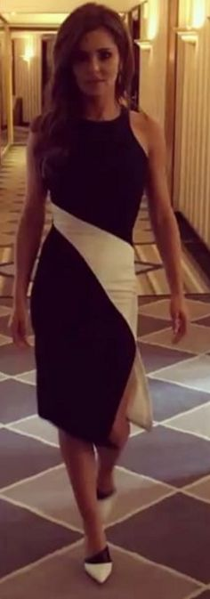 Cheryl Cole wearing Elizabeth and James Shylen Colorblock Dress Cheryl Cole Style, Cheryl Ann Tweedy, Colorblock Dress, Elizabeth And James, Star Fashion, Spring Summer Fashion, Celebrity Style, Style Inspiration, Black And White