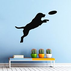 Housewares Wall Vinyl Decal Animals Cute Dog Playing with a Ball Puppy Pets Pet Shop Interior Home Art Decor Kids Nursery Removable Stylish Sticker Mural Unique Design for Any Room Decal House http://www.amazon.com/dp/B00HVIJ6JU/ref=cm_sw_r_pi_dp_GgjIvb1PQV9SE