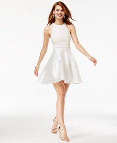 Trixxi Juniors' Halter Fit & Flare Dress - Juniors Dresses - Macy's
