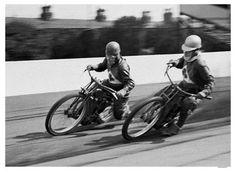 Motorcycle Race Fine Art Vintage Giclee Print