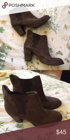 """Steve Madden """"Natasha"""" Suede Ankle Boots Very cute heeled ankle booties by Steve Madden. Gently worn Steve Madden Shoes Ankle Boots & Booties"""