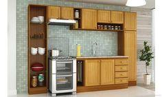 Cozinha Modulada Completa 7 Módulos Classic Cerejeira/Desenho Granito Alicante - Móveis Kochhann | Lojas KD
