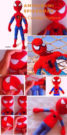 Amigurumi spiderman free crochet pattern is waiting for you in this article with all the details. You can find everything about Amigurumi on our website. Teddy Bear Patterns Free, Knitting Patterns Free, Free Knitting, Free Crochet, Free Pattern, Crochet Monkey, Crochet Baby Booties, Amigurumi Free, Crochet Patterns Amigurumi