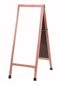 A-311SW. A-Frame Sidewalk Board. A-Frame Sidewalk Board Features a White Porcelain Markerboard and Solid Red Oak Frame with a Clear Lacquer Finish