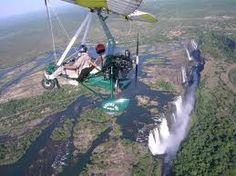 Flying Victoria falls