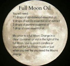 Full Moon Oil.       )☆(