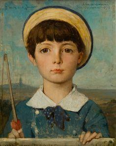 Portrait de Jacques Bizet enfant 1878 Huile sur toile 24 x 19 cm Dédicacé H. G. : A mon ami Jacquot ; Signé H.D. : Blanche Couronne/Elie Delaunay /1878 Legs Robert Dreyfus en 1940