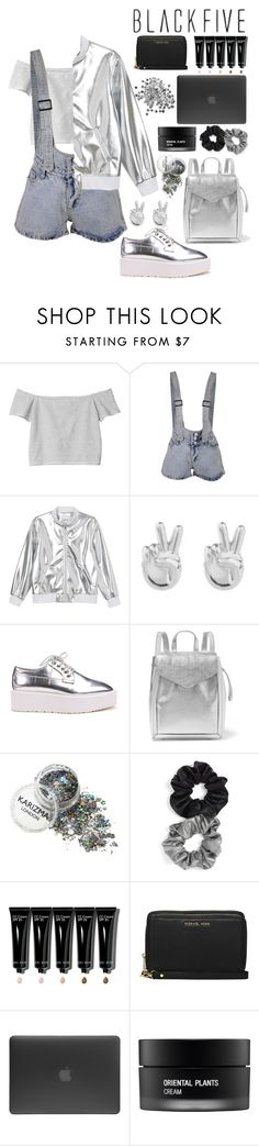 """""""I'm a loaded gun, but I'm nobodies hero"""" by xxkatiehemmingsxx ❤ liked on Polyvore featuring Monki, Rock 'N Rose, Loeffler Randall, Berry, Bobbi Brown Cosmetics, MICHAEL Michael Kors, Incase and Koh Gen Do"""