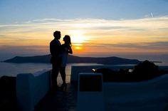 Sunset for two! #Santorini #Imerovigli #Greece #Travel
