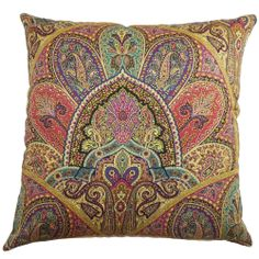 La Ceiba Gemstone Paisley Down Filled Throw Pillow | Overstock.com Shopping - Great Deals on PILLOW COLLECTION INC Throw Pillows