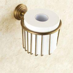 トイレットペーパーホルダー 紙巻器 アンティーク調 ブラス色