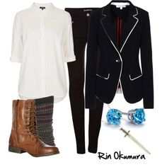 Rin by allij28 on Polyvore featuring Topshop, Elizabeth and James, Pull&Bear, Burlington, Steve Madden, Blue Nile and Vanessa Mooney