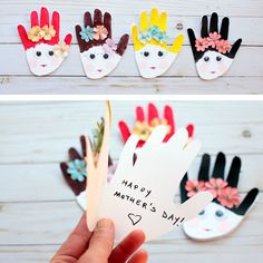 Mother's Day handprint card for kids 1