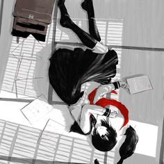 Jun Ayafuya does beautiful work in monochrome with a splash of red.