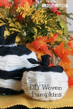 Woven modern pumpkins from @myclevernest