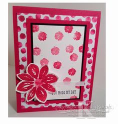"""Rosey Petals is made with Stampin' Up's """"Potpourri Petals"""" and """"And Many More"""" stamp sets."""