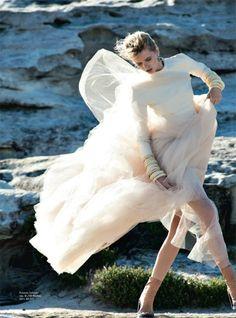 Abbey Lee Kershaw by Gilles Bensimon for Vogue Australia April 2014