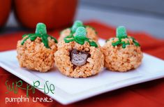 A fun Rice Krispies Halloween recipe with a surprise of chocolate inside.  Kids will love them!