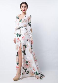 Vestido Longo Transpassado | Lança Perfume