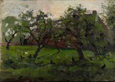 """""""Piet Mondrian (Dutch, 1872–1944) Orchard with chickens (Boomgaard met kippen), 1901 """""""