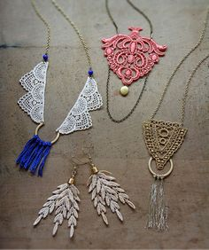 Lace jewelry by White Owl