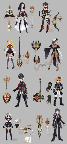 Dragon nest priest weapons by ZiyoLing