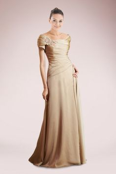 Classic Off-the-shoulder Sheath Mother of Bride Dress with Floral Embellishment