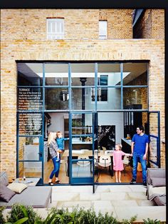 Really like the Crittall doors. Sooo much nicer than bifold doors here. Architecture Details, Interior Architecture, Crittal Doors, Crittall Windows, Patio Interior, Glass Facades, House Extensions, Windows And Doors, Big Windows