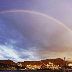 【gunkanjima_gdm】さんのInstagramをピンしています。 《今朝は大きな虹が見れました! 稲作山と虹✨朝からHappy な気分になれますね(*^^*) #軍艦島 #gunkanjima #長崎 #nagasaki #hashima #虹 #rainbow #海 #sea #雲 #空 #sky #稲作山 #全景 #美 #island #旅行 #旅  #廃墟 #写真 #photo #city #photography #旅行 #日本  #観光 #ツアー #travel #Japan  #軍艦島デジタルミュージアム #gunkanjimadigitalmuseum》